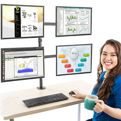 £37.96 • Buy Quad Four Arm LCD Monitor Desk Mount Bracket Stand For 4 Screen 10-32  TV
