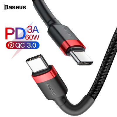 AU9.99 • Buy USB Type-C To Type-C Charger Data M-M Cable Support PD QC Fast Charging Samsung