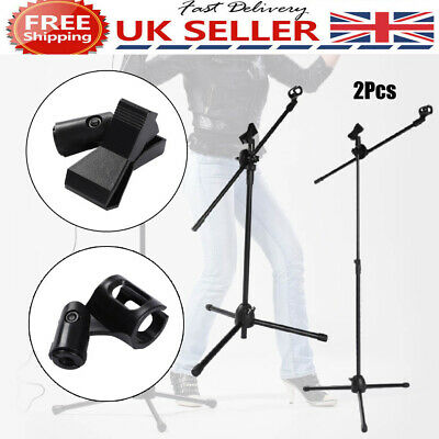 Adjustable Microphone Stand Boom Arm Holder & Mic Clip Stage Studio Party Tripod • 15.59£