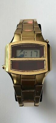 $ CDN350 • Buy Vintage Longines LED & LCD Watch 14k Gold Electroplated Bezel Admiral U.S.A 1/20