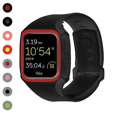 $ CDN10.95 • Buy For Fitbit Versa Band TPU Silicone Watch Strap + Rugged Armor Case Frame  USA