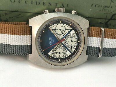 $ CDN1652.92 • Buy Vintage 1970's Valjoux 7736 LEGANT Chronograph TRIPLE Registers Men's Watch NOS