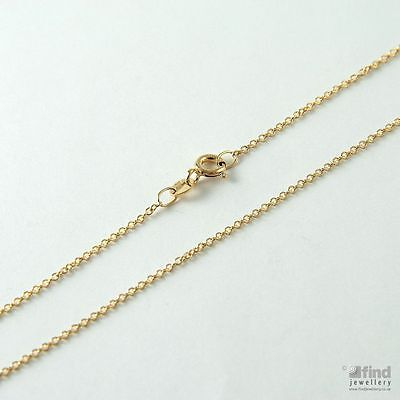 Ladies / Womens Solid 9ct Gold Pendant 22 Inch Fine Trace Chain 1.7g • 93.10£