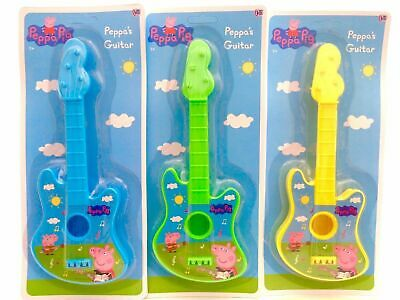 LARGE NEW PEPPA PIG STRING GUITAR MUSIC SET Children Kids Musical INSTRUMENT TOY • 6.99£