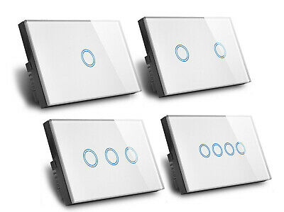 AU26.95 • Buy Touch Wall Light Switch LED 1/2/3/4 Gang 1way Touch Glass Switch AU Certified