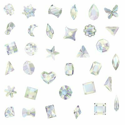 (Choose Your Shape & Size) Swarovski AB Crystal (No Hotfix ) Rhinestone Diamante • 2.99£