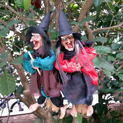 $ CDN7.15 • Buy 12  Halloween Decoration Witch Props Laugh Sound Control Scary Hanging Decor UK