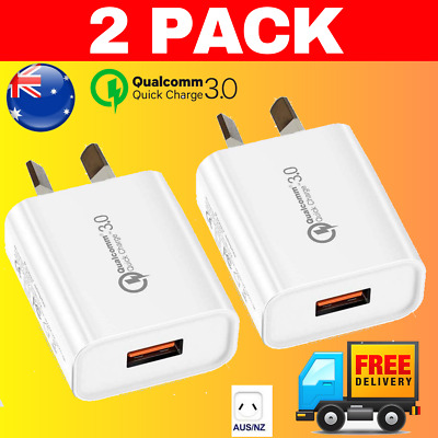 AU7.95 • Buy 2 PACK ⚡️Qualcomm Quick Charge QC 3.0 Fast USB Wall Charger IPhone 18W AU Plug