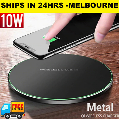 AU8.95 • Buy 10W Wireless PHONE Charger Fast Charging Pad Desk IPhone X XR 8 Samsung S10 S9