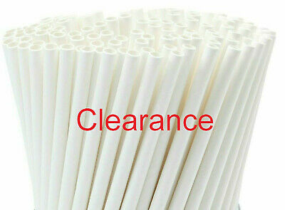 $6.99 • Buy 250pcs Drinking Straws White Paper Eco-friendly Party 6mm 7 3/4'' Closeout