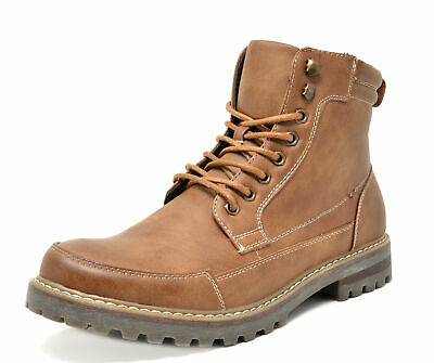 $33.29 • Buy BRUNO MARC Men Military Motorcycle Combat Riding Ankle Leather Boots Size 6.5-15