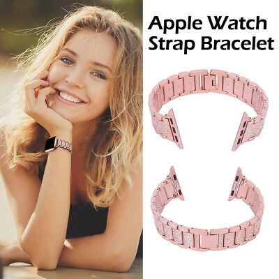 $ CDN14.43 • Buy For Apple Iwatch Strap 4 3 2 1 Series Stainless Steel Strap Watch Band Fashion