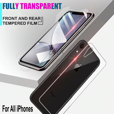 AU3.85 • Buy Apple IPhone 7 8 6s 6 Plus 11 Pro-2X Front /Rear Tempered Glass Screen Protector