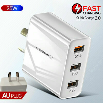 AU14.99 • Buy For Apple IPad Pro 10.5  11  12.9  Fast Charging QC3.0 Wall Plug Charger Adapter