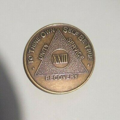 $3.20 • Buy Aa New Alcoholic Anonymous Bronze 23 Year Recovery Sobriety Coin Token Medallion