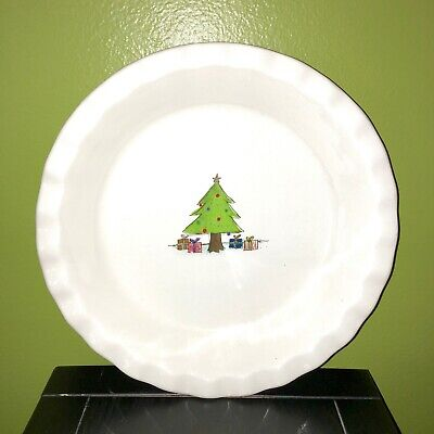 $24.99 • Buy New RAE DUNN Holiday Christmas Tree Pie Plate Baking Dish By Magenta