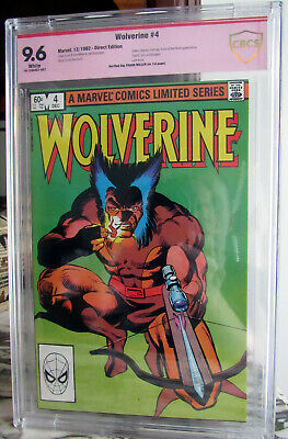 £127.43 • Buy WOLVERINE #4 1982 9.6 NM+ ~Signed By Frank Miller~ CBCS CGC