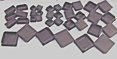 40x40mm Black Plastic Blanking End Caps Inserts Plug Bung Box Section • 2.42£