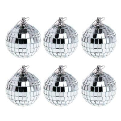 £5.36 • Buy Set Of 6Pcs Mirror Glass Ball Disco Lighting Kit For Home Stage Club Dance Party