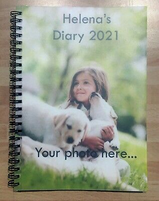 £9.99 • Buy Your Photo Softback Printed Personalised Diary Any Date & Name, A5 Size