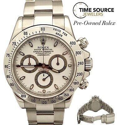 $ CDN22960.33 • Buy Rolex Daytona Stainless Steel New Fat Buckle 2009 116520 White Dial 40mm Watch