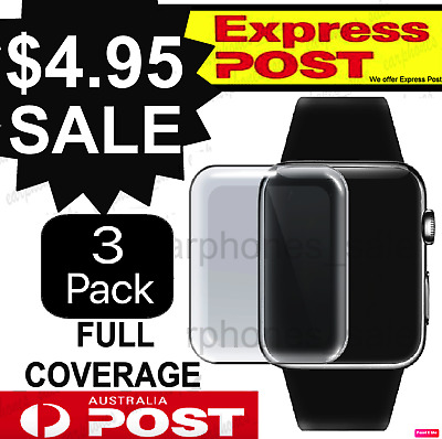 AU4.95 • Buy X3 For Apple Watch Series Film Gel Curved Screen Protector 38/42mm 40/44mm
