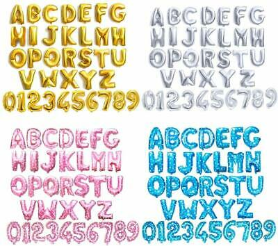 $1.39 • Buy 16  Alphabet Letter Number Foil Balloon NAME PARTY WEDDING Gold Silver Blue Pink