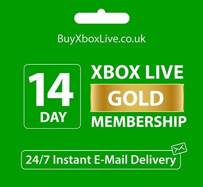 $4.16 • Buy Xbox Live 14 Day Gold Trial Membership Code (2 Weeks) - Xbox One Only - Instant