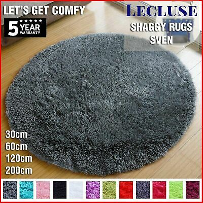 AU31.90 • Buy Lecluse Rugs Round Shaggy Floor Carpets Extra Large Lounge Couch Non Slip Area