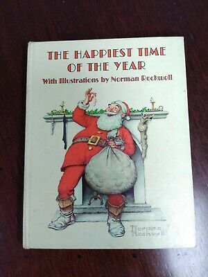 $ CDN5.33 • Buy The Happiest Time Of The Year By Norman Rockwell Hallmark Christmas Gift Book
