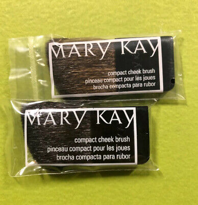 $5 • Buy LOT Of 2 Mary Kay Black Compact Cheek Brushes New Sealed Packages