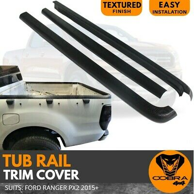 AU165 • Buy Tub Side Rail Trim Cover Suits Ford Ranger Px2 Px1 2012 - 2020 Protector Guard