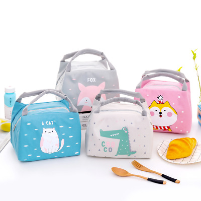 AU11.95 • Buy Kids Lunch Bag Portable Thermal Insulated Cooler Lunch Bag Carry Tote Lunch Box
