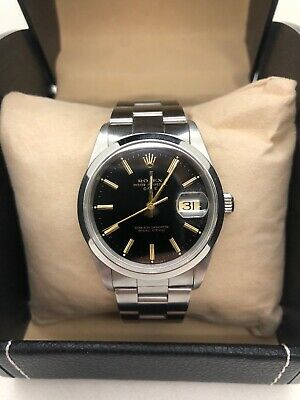 AU6250 • Buy Rolex 15200 Oyster Perpetual Date Black Gold Gilded Dial Automatic Watch