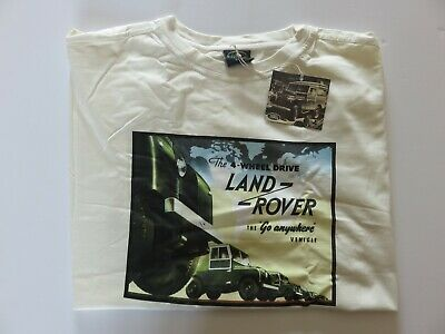 Land Rover New Genuine Vintage Advert Fire Tender T-Shirt In Red Size XL • 8.50£