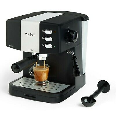 View Details VonShef 15 Bar Coffee Maker Machine Espresso Latte Cappuccino Barista Style • 59.83£