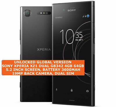 AU374.02 • Buy SONY XPERIA XZ1 DUAL G8342 4gb / 64gb Octa Core 19mp Dual Sim Android Smartphone