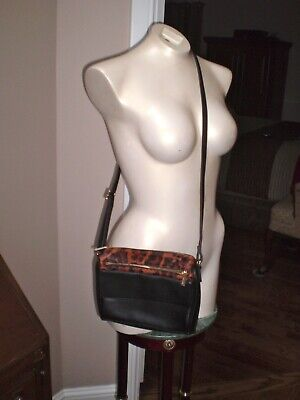 $ CDN50 • Buy Danier Mint Condition Cross Body Leather & Calf Hair Handbag