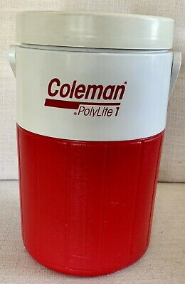 $9.99 • Buy Coleman Polylite 1 Gallon Personal Water Cooler Jug 5596 Red White Spout Handle
