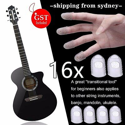 AU9.99 • Buy 16Pcs Fingerstall Silicone Guitar Fingertip Protector Finger Guards For Ukulele
