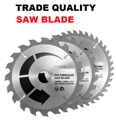 Saw Blade 190mm X 24t Or 40t Tct 30mm Bore Circular  INDUSTRIAL QUALITY GERMAN  • 8.49£