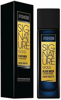 Axe Signature Gold Black Musk And Cedar Wood Man Perfume With 0 Gas Percent 80ml • 16.01£
