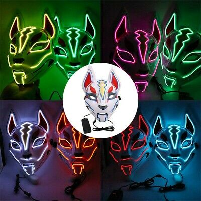 $ CDN13.24 • Buy Fortnite Game Fox Drift Light Up LED Mask Halloween Costume Cosplay Rave Party