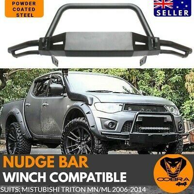 AU549 • Buy Nudge Bar Bull Steel Front Winch Compatible Suits Triton MN ML 2006 -2014