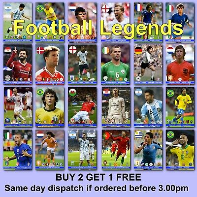 £2.97 • Buy Football Poster Soccer Posters Football Legend A4 Prints Photo Over 220 Players
