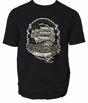 Ship Mens T Shirt Top Shark Ocean Anchor Sea  S-3XL  • 12.99£