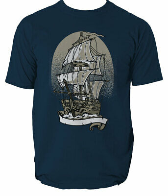 Ship Mens T-shirt Shark Sea Ocean Anchor Top S-3XL  • 10.99£