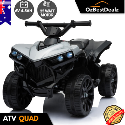 AU149 • Buy Kids Electric Atv Quad Ride On Car Toy Bike 4 Wheeler Black White