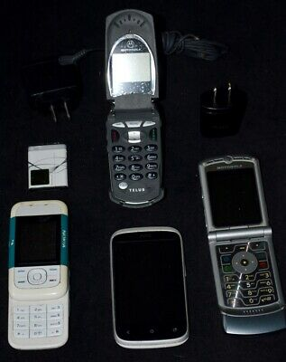 $ CDN145.78 • Buy Lot Of 4 Old Used Cell Phones Not In Working Condition W Some Accessories