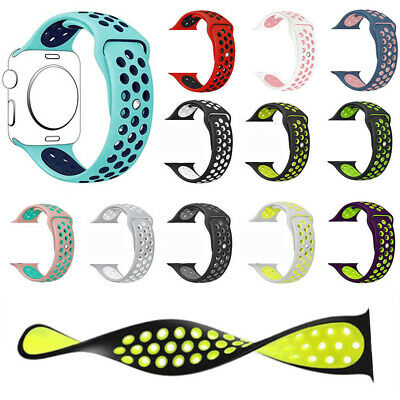$ CDN5.51 • Buy 40/44mm 38/42mm Silicone Sports IWatch Band Strap For Apple Watch Series 5 4 3 2